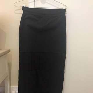 Mink Pink Stretch Mesh Panel Maxi Skirt