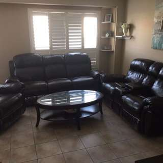 Couches, Coffee Table, Dining Table, Hutch