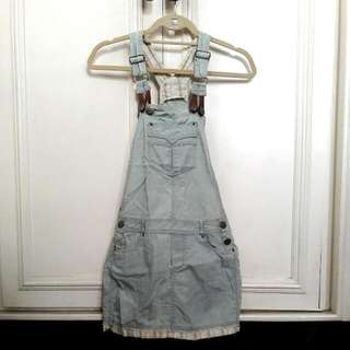 PROMOD Denim Jumper Skirt