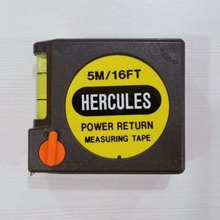 HERCULES 5M/16FT Power Return Measuring Tape with Level
