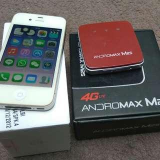 iPhone 4 CDMA 16gb+Mifi M2s Fullset