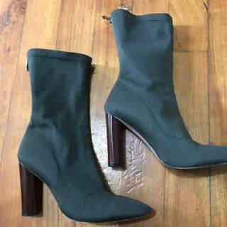 Zina Khaki High Ankle Boot