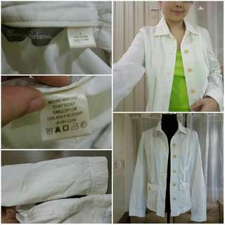 White button-down Coat