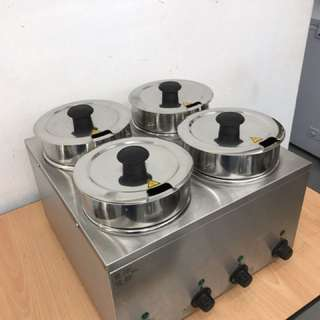 4-Pot Bain Marie (Electric Food Warmer)