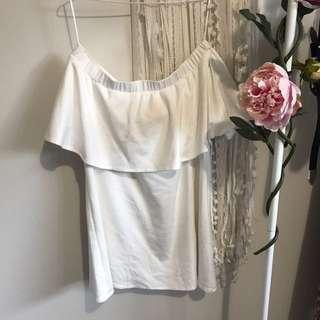Mossman Strapless White Dress
