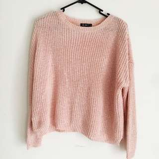 Cropped Pink Knit