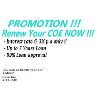 COE Renewal Promotion!!