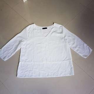 SEED White Blouse Size M