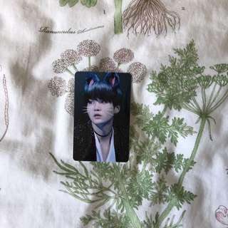 BTS SUGA Cute Cat Ears Crystal Card Sticker (Waterproof)