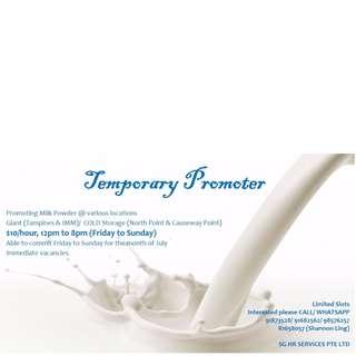 temporary milk powder promoter