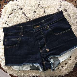 Ksubi Dark Blue Denim Shorts