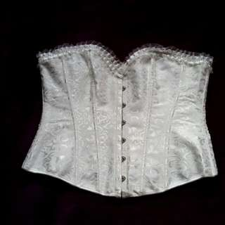 White Lace Up Fashion Corset