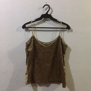 GOLD STRING CAMI