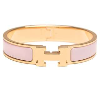 Hermes Clic Clac in Rose Dragee and Rose Gold Hardware