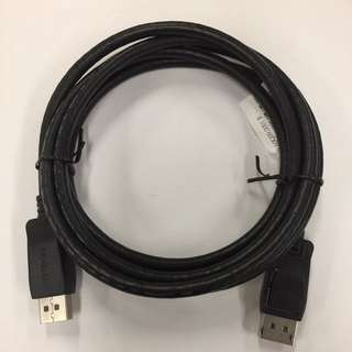 HP DisplayPort MALE to DisplayPort MALE Cable 6 Feet (6ft DP TO DP) 1.8M