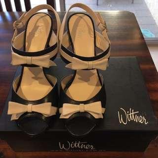 Wittner Black And White Heels