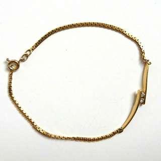 Gold Bracelet & Ring Set 18k w/ Diamond