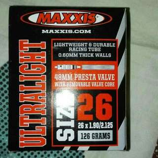 MAXXIS 26x1.90-2.125 ULTRALIGHT TUBES 超輕內呔