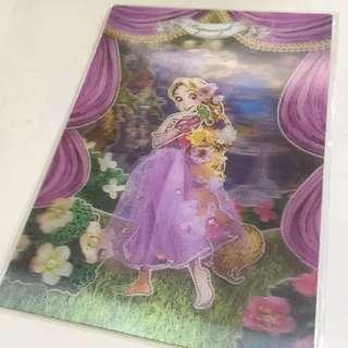 迪士尼 長髮公主 3D 明信片 Disney Rapunzel 3D Postcard
