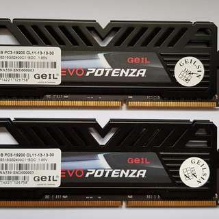 Geil DDR 3 2400mhz 8gb X2 Dual Channel