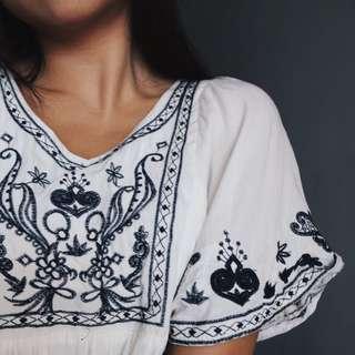 Bohemian Embroidery Dress/Top