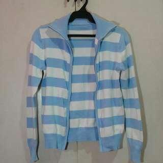Repriced!!Blue Stripe Sweater