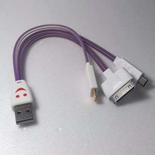 Kabel Data Smile 3 in 1 model Cumi