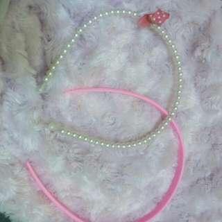 2 Bando Imut Pink Dan Putih