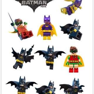 Lego Batman Movie Kids Temporary Tattoo Sheet