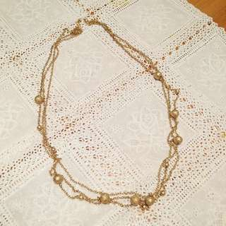 3 Layer Long Gold Necklace