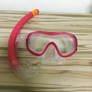 浮潛蛙鏡(附網袋)