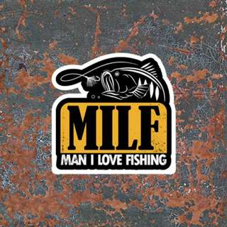 Waterproof Fishing Sticker Decal
