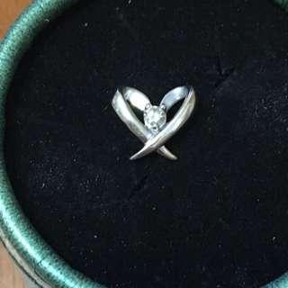 My Jewerlry 愛飾8k鉑金白金心型鑽石吊咀