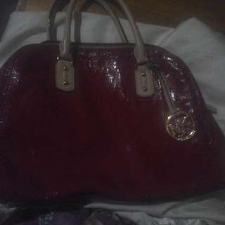 MK Purse Bag Red Logo Authentic