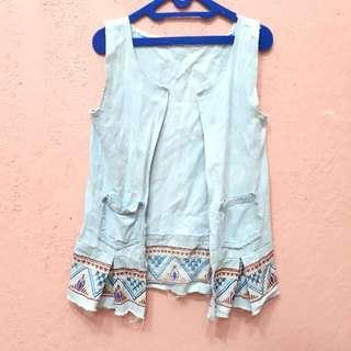 Sleveless Jeans Ethnic