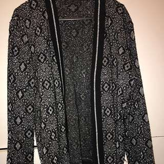 Silver Cardigan Small