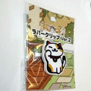 Limited Edition Neko Atsume ねこあつめ clip