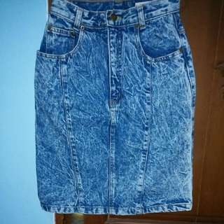 H&M Highwaist Denim Skirt