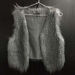 Faux Fur Grey Vest