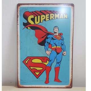 Superman Tin Plate [T-1]