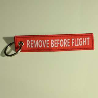 Remove Before Flight Key Chain