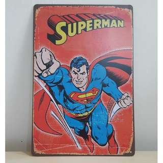 Superman Tin Plate (2) [T-2]