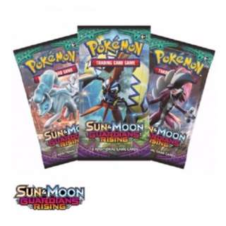 Pokemon TCG Sun And Moon Guardians Rising Set Of 3 Booster Packs