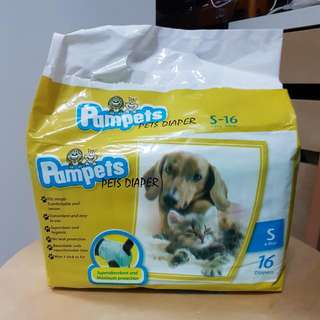Pampets Pet Diapers Small (15 Pieces)