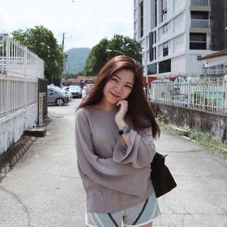 📦 Bell Sleeve Knitted Sweater