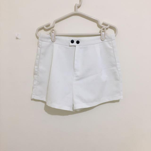 正韓🎈白色麻料短褲