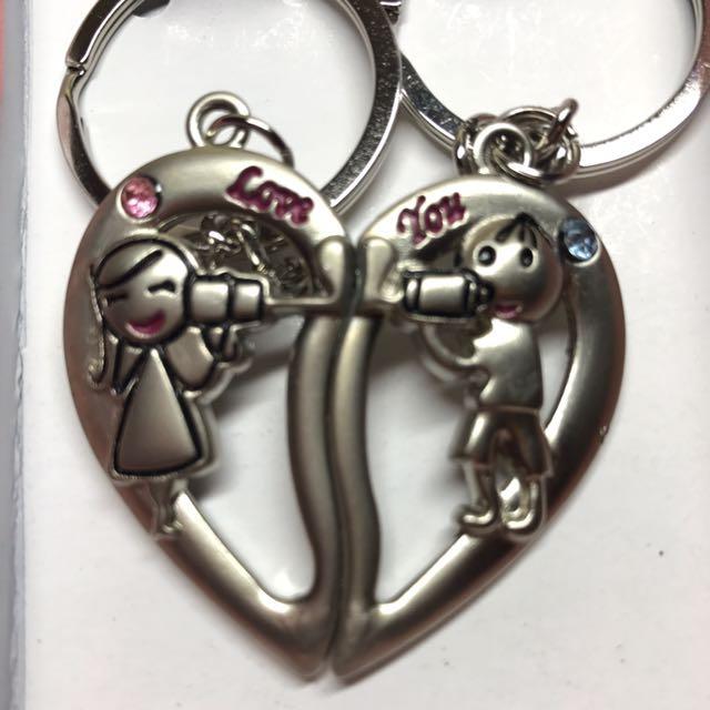 愛的傳聲筒情侶鑰匙圈