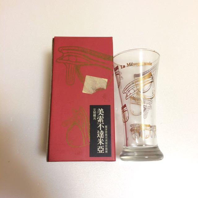 透明金色裝飾玻璃杯