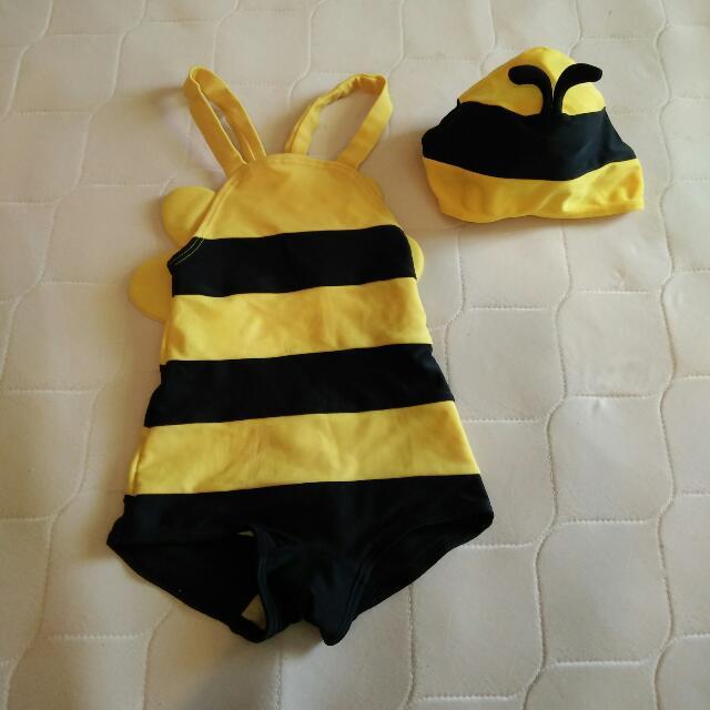 小蜜蜂兒童泳裝 #我有泳裝要賣