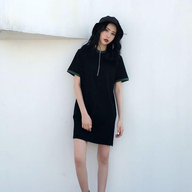 📦 Simple Zip Shirt Dress